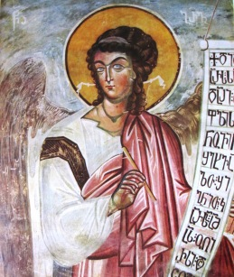 Archangel_Gabriel._Tsalenjikha_fresco_(Georgia,_14th_c.).jpg