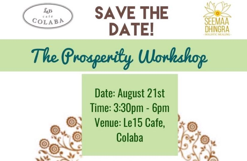 Save The Date For Our Prosperity Workshop Seemaa Dhingra